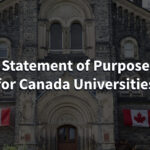 How to write SOP for Canada Universities